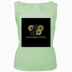 Five donuts in one minute  Women s Green Tank Top