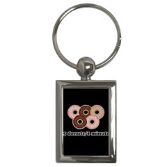 Five donuts in one minute  Key Chains (Rectangle)