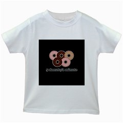 Five donuts in one minute  Kids White T-Shirts