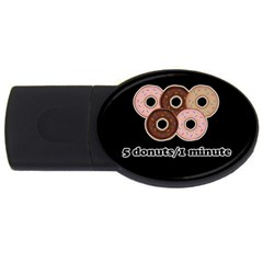 Five donuts in one minute  USB Flash Drive Oval (1 GB)