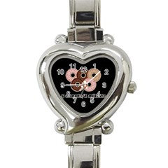 Five donuts in one minute  Heart Italian Charm Watch