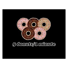 Five donuts in one minute  Rectangular Jigsaw Puzzl