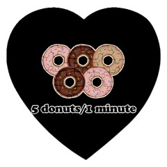 Five donuts in one minute  Jigsaw Puzzle (Heart)