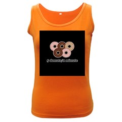 Five donuts in one minute  Women s Dark Tank Top