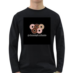 Five donuts in one minute  Long Sleeve Dark T-Shirts