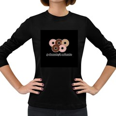 Five donuts in one minute  Women s Long Sleeve Dark T-Shirts