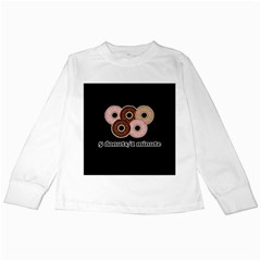 Five donuts in one minute  Kids Long Sleeve T-Shirts
