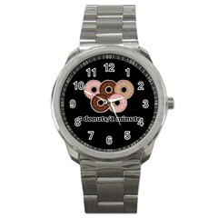 Five donuts in one minute  Sport Metal Watch