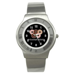 Five donuts in one minute  Stainless Steel Watch