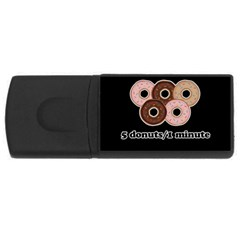Five donuts in one minute  USB Flash Drive Rectangular (4 GB)
