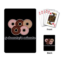 Five donuts in one minute  Playing Card
