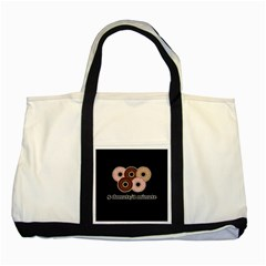 Five donuts in one minute  Two Tone Tote Bag