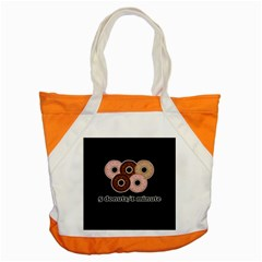 Five donuts in one minute  Accent Tote Bag