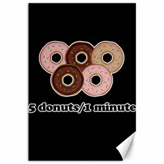 Five donuts in one minute  Canvas 12  x 18