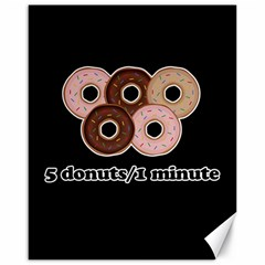 Five donuts in one minute  Canvas 16  x 20