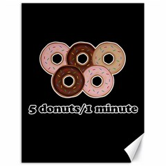 Five donuts in one minute  Canvas 18  x 24