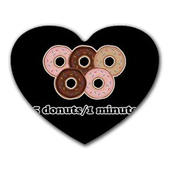 Five donuts in one minute  Heart Mousepads