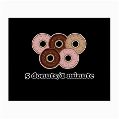 Five donuts in one minute  Small Glasses Cloth (2-Side)