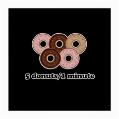 Five donuts in one minute  Medium Glasses Cloth (2-Side)