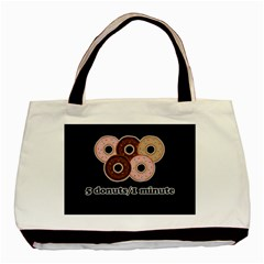 Five donuts in one minute  Basic Tote Bag (Two Sides)