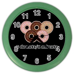 Five donuts in one minute  Color Wall Clocks