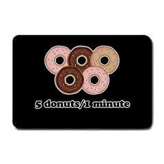 Five donuts in one minute  Small Doormat