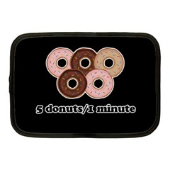 Five donuts in one minute  Netbook Case (Medium)