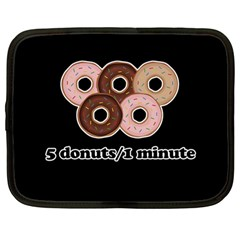 Five donuts in one minute  Netbook Case (Large)