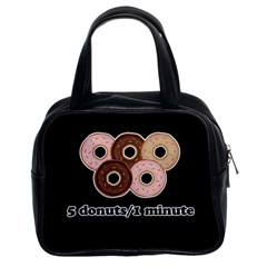 Five donuts in one minute  Classic Handbags (2 Sides)