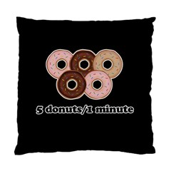 Five donuts in one minute  Standard Cushion Case (Two Sides)
