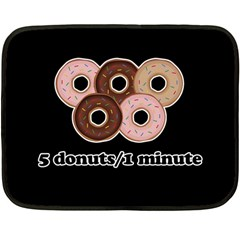 Five donuts in one minute  Fleece Blanket (Mini)