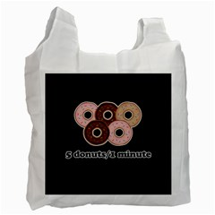 Five donuts in one minute  Recycle Bag (Two Side)
