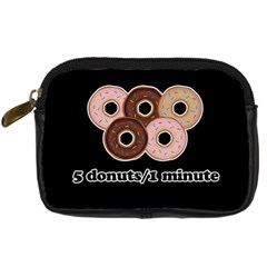 Five donuts in one minute  Digital Camera Cases