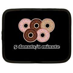 Five donuts in one minute  Netbook Case (XXL)