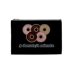 Five donuts in one minute  Cosmetic Bag (Medium)