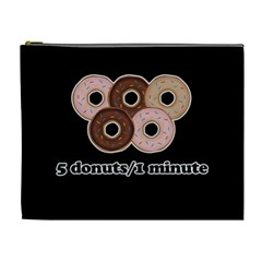 Five donuts in one minute  Cosmetic Bag (XL)