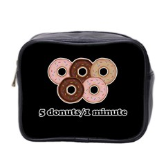 Five donuts in one minute  Mini Toiletries Bag 2-Side