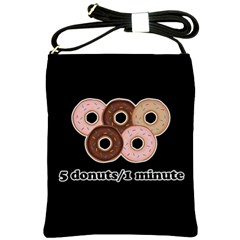 Five donuts in one minute  Shoulder Sling Bags