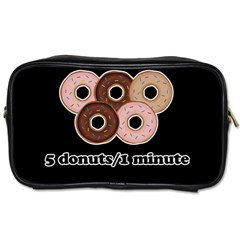 Five donuts in one minute  Toiletries Bags 2-Side