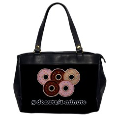 Five donuts in one minute  Office Handbags