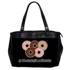 Five donuts in one minute  Office Handbags (2 Sides)