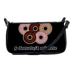 Five donuts in one minute  Shoulder Clutch Bags