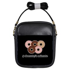 Five donuts in one minute  Girls Sling Bags