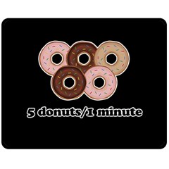 Five donuts in one minute  Fleece Blanket (Medium)