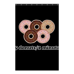 Five donuts in one minute  Shower Curtain 48  x 72  (Small)