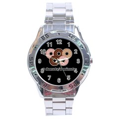 Five donuts in one minute  Stainless Steel Analogue Watch
