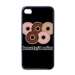 Five donuts in one minute  Apple iPhone 4 Case (Black)