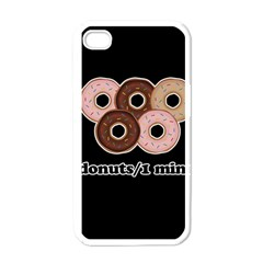 Five donuts in one minute  Apple iPhone 4 Case (White)