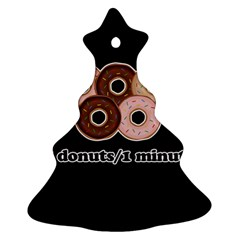 Five donuts in one minute  Christmas Tree Ornament (Two Sides)