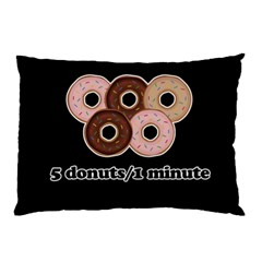 Five donuts in one minute  Pillow Case (Two Sides)